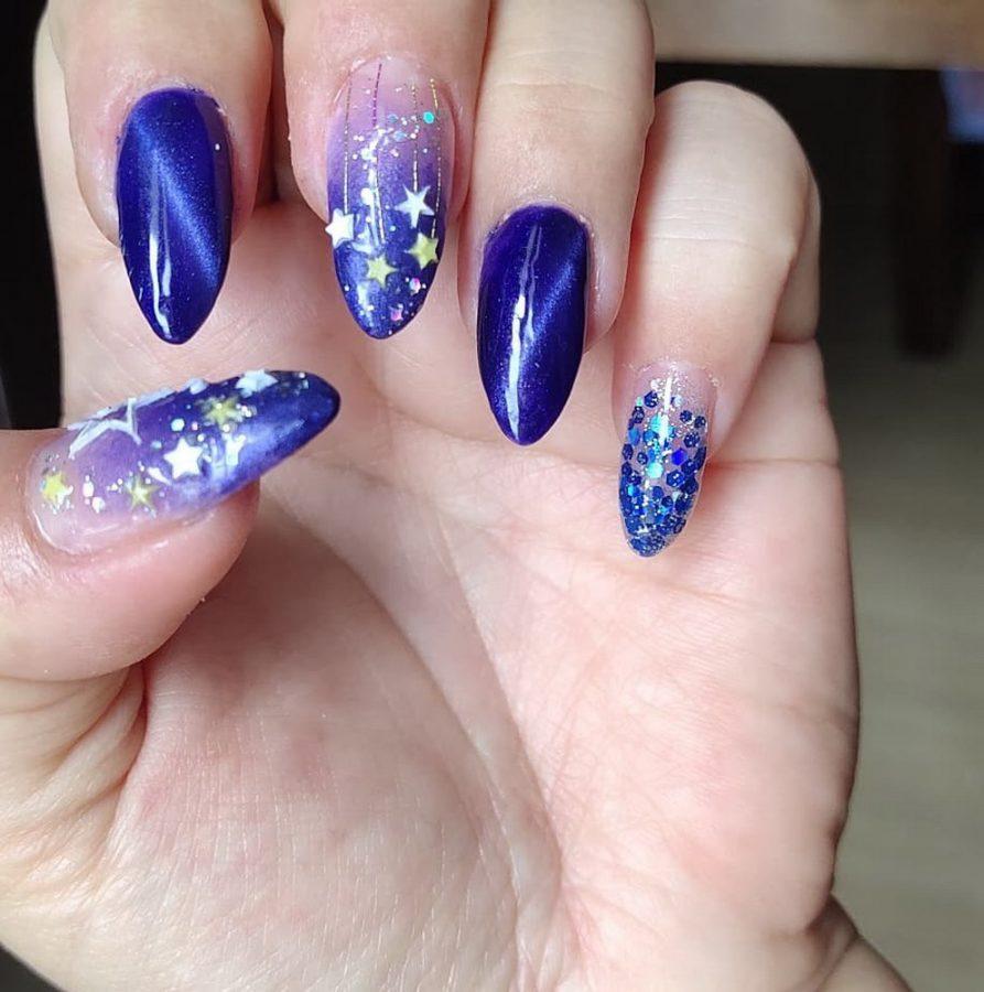 purple star nails
