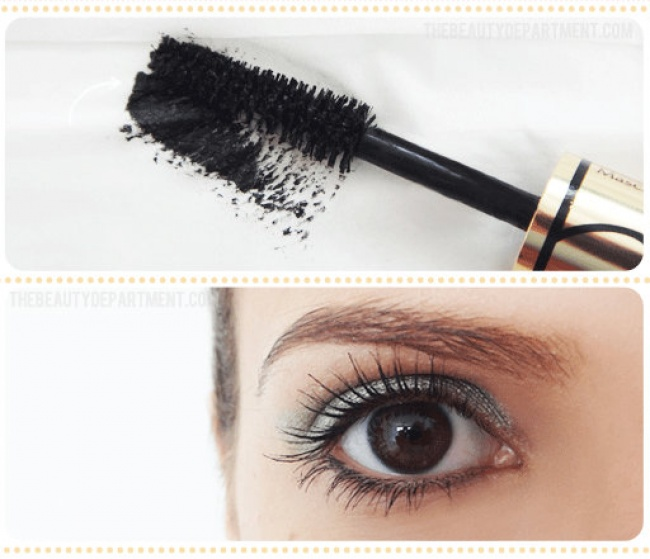 remove the excess mascara from the brush