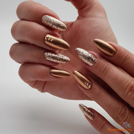 rose gold luxury nails