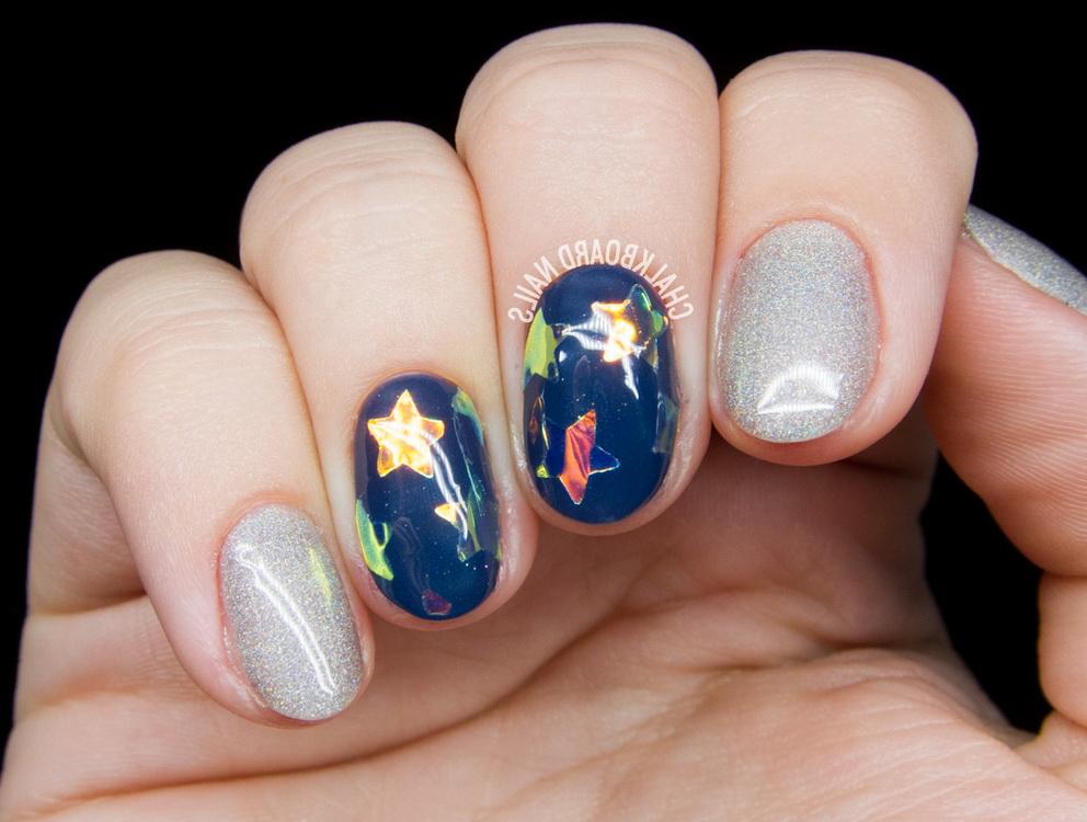 shiny star nails