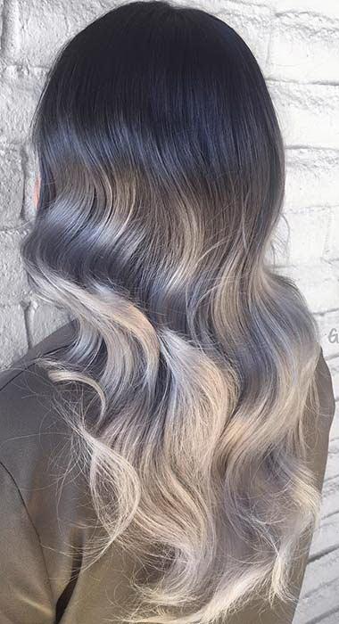 silver ombre hair