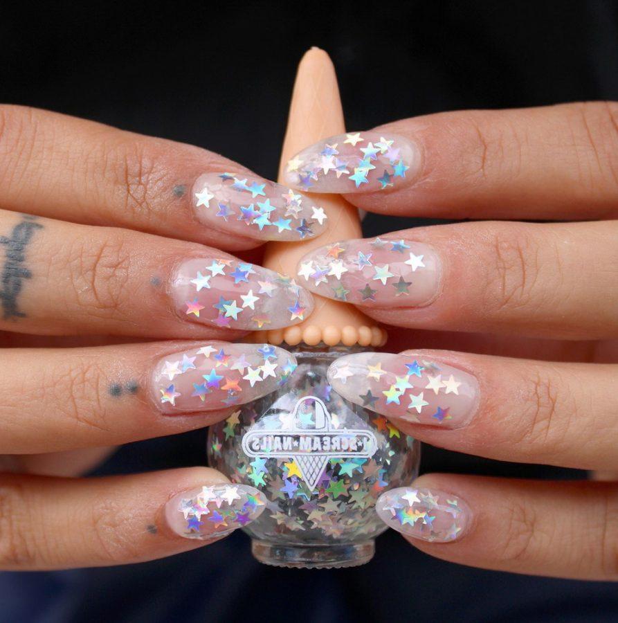 transparent star nails