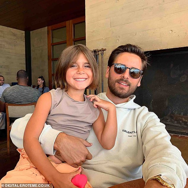 'And he's such a good dad, I don't know if people really know that. He's at home with them every night - homework, bedtime.' Diane said. Scott is pictured with daughter Penelope