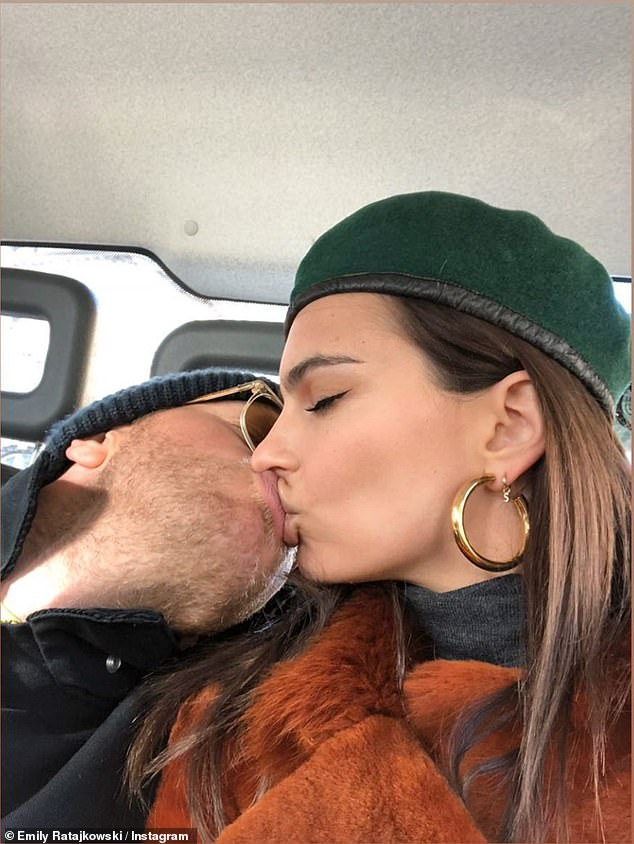 Quaratine partner: Ratajkowski recently left NYC to hunker down at her Los Angeles home with husband Sebastian Bear-McClard, 31, and pup Colombo amid the COVID-29 pandemic
