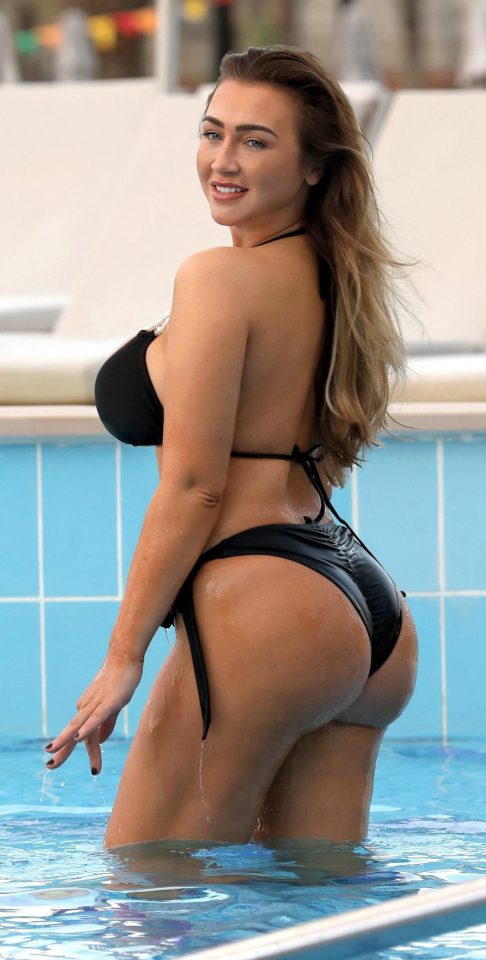 Lauren is adamant she's not had surgery and said she's working out non-stop to get a bigger bum