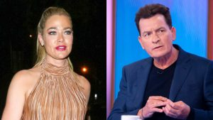 Denise Richards Reacts To Charlie Sheen After He Calls Her 'A Coward'