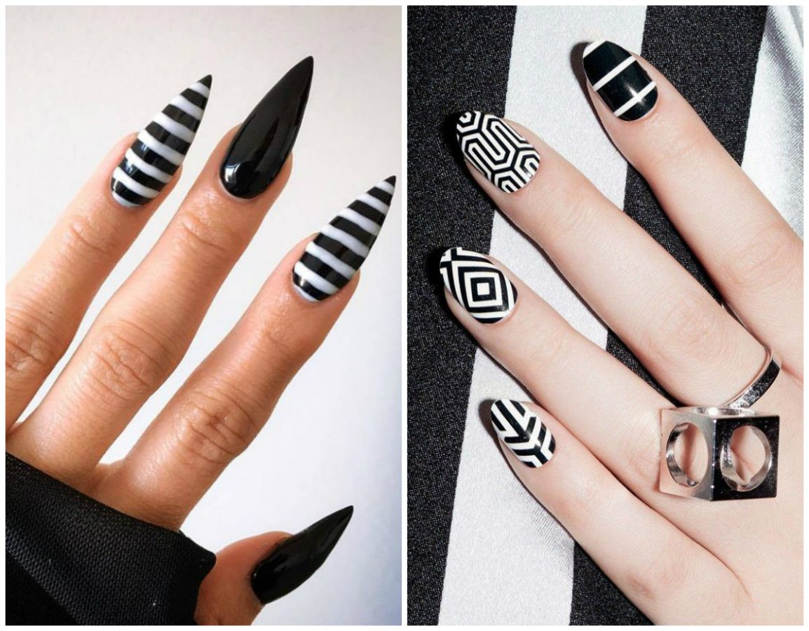 Rarity Nails black and white