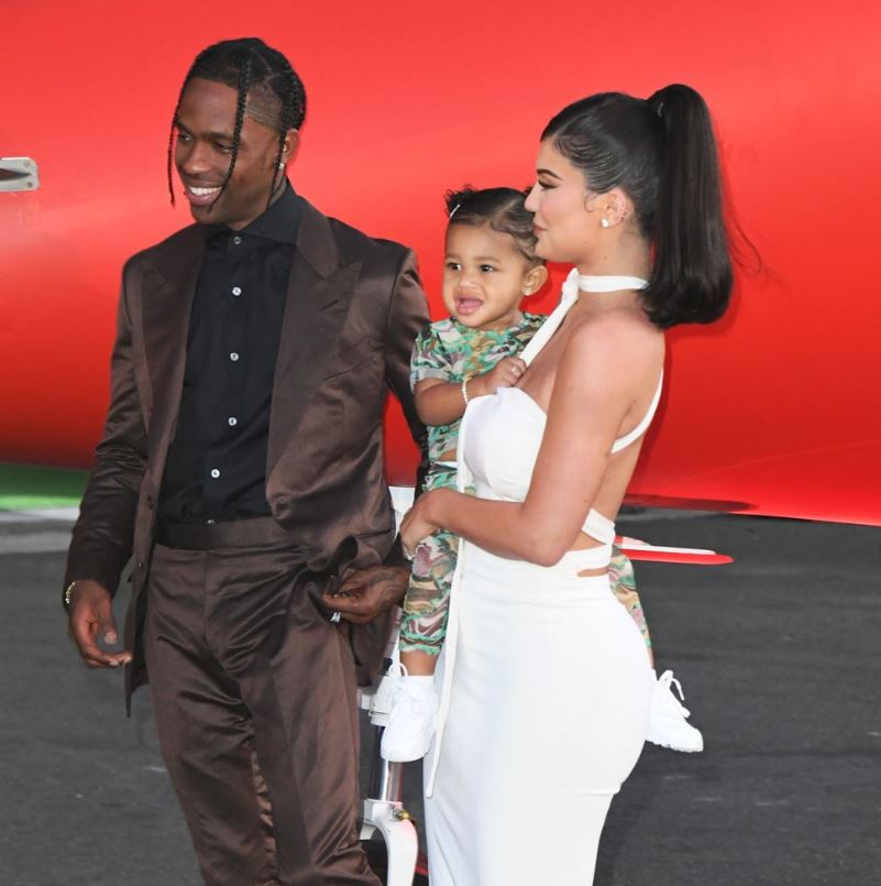 Travis Scott Quarantines with Kylie Jenner and Stormi Webster at Kris Jenner's home