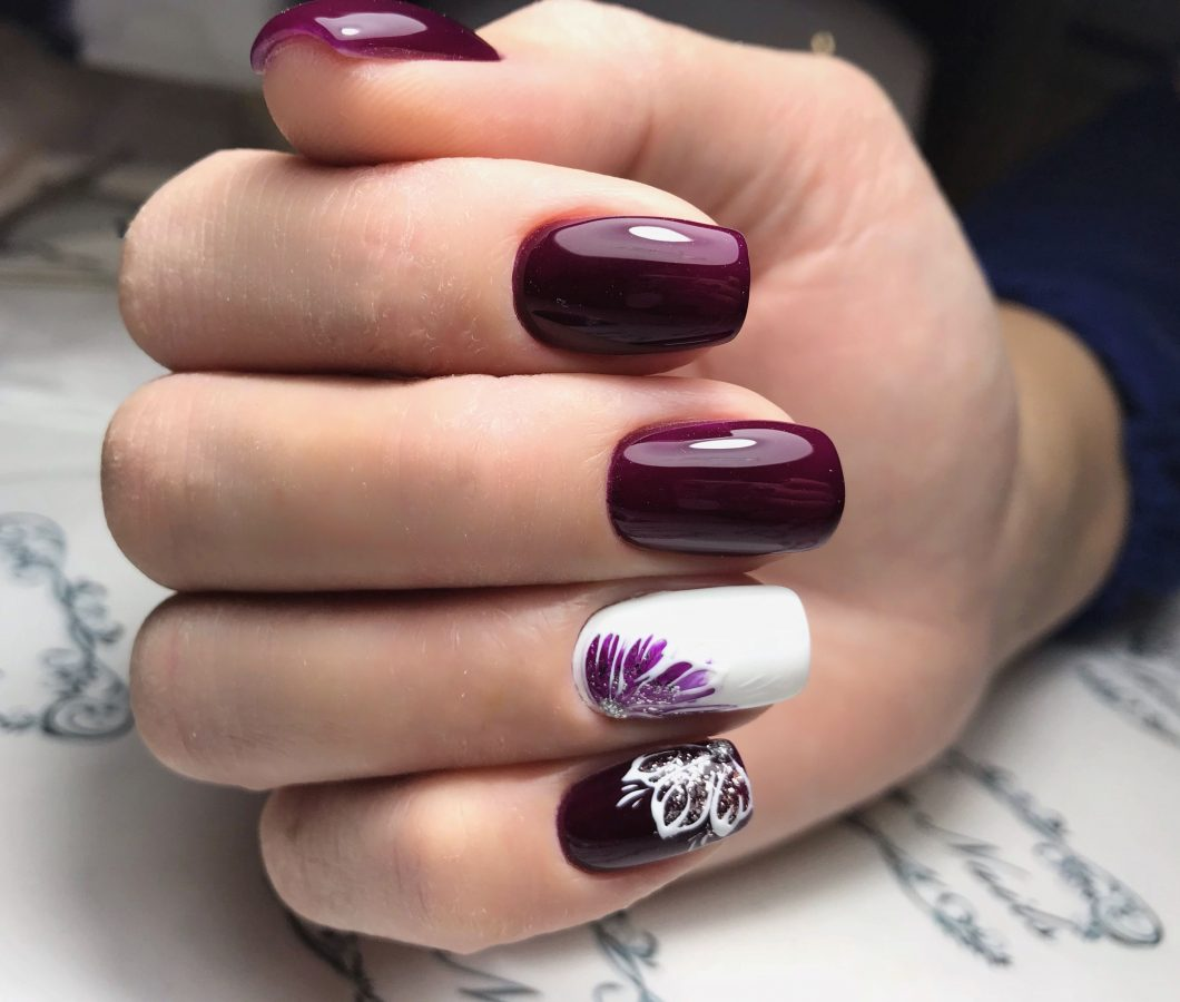 burgundy Rarity Nails
