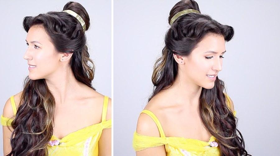 Belle Half Updo hairstyles