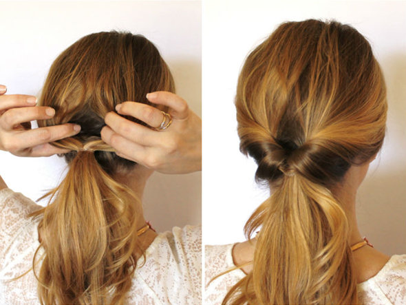 Inverted Ponytail hair style