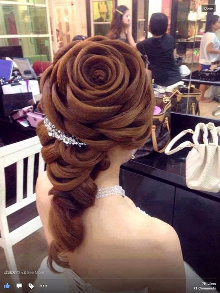 17 Disney Princess Hairstyles - An incredible layered look inspired by Princess Belle.