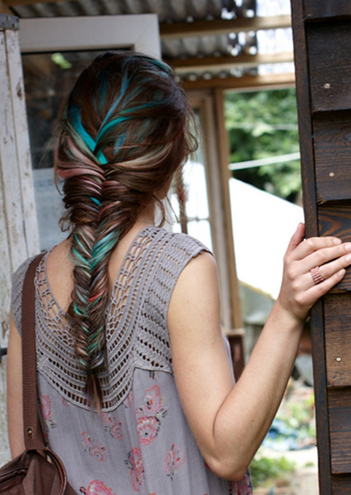 17 Disney Princess Hairstyles - A beautiful multi-colored braid.