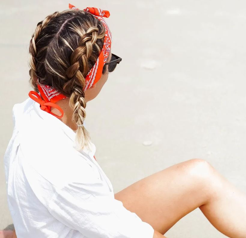 Braided Hairstyle with a Bandana
