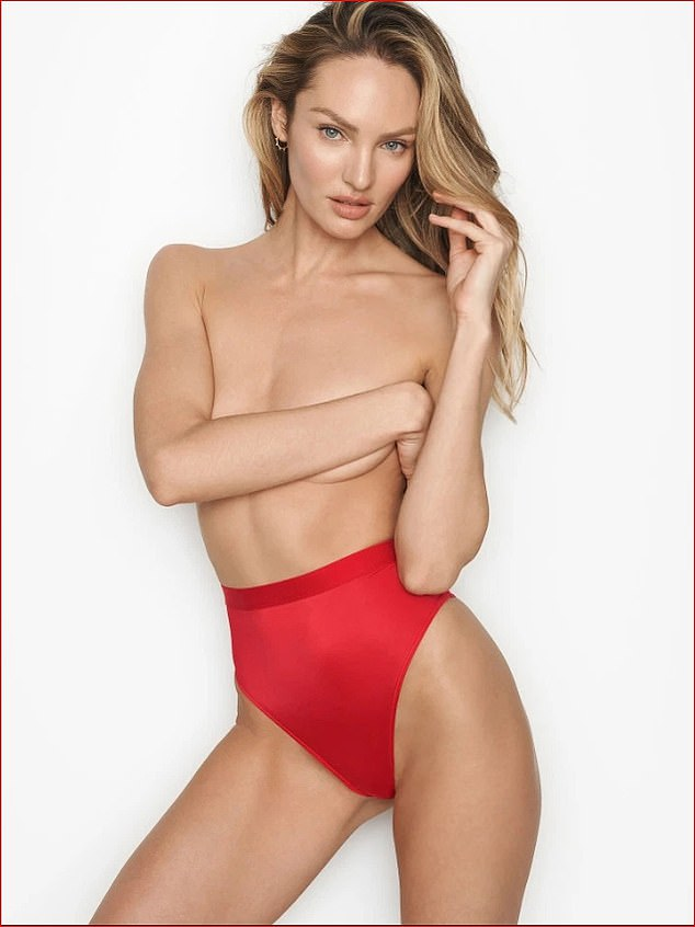 Wow!Candice Swanepoel, 31, posed topless and displayed her peachy derrière in a range of lingerie during a sizzling photoshoot to front a new Victoria's Secret campaign