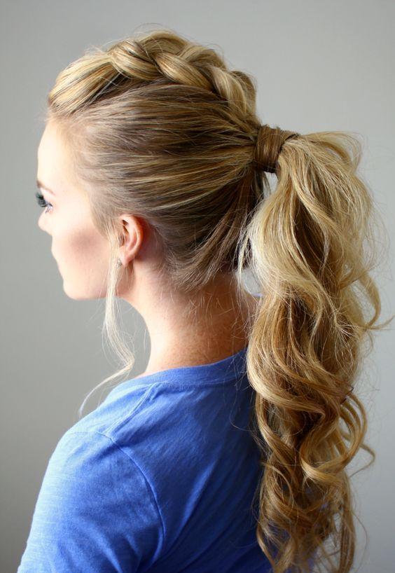 Curly Cowgirl Hairdo