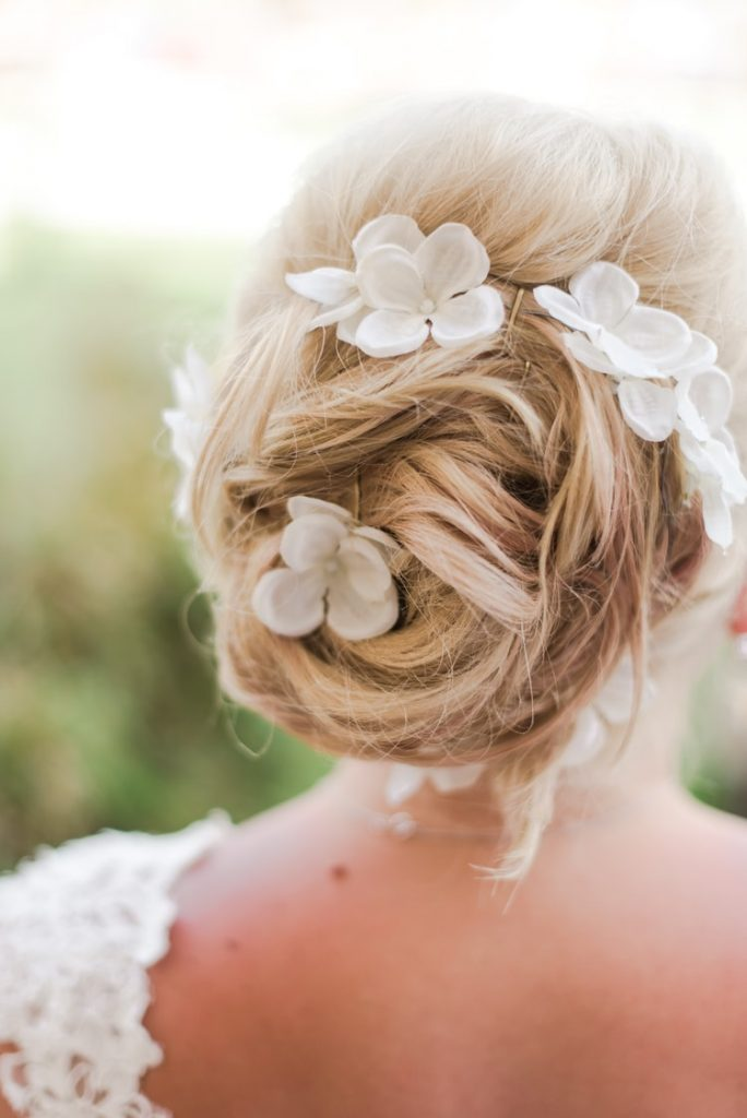 Elegant knot hairstyle