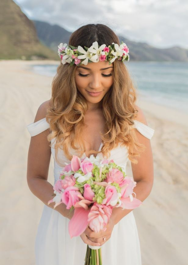 Hawaiian Wedding Hairstyle