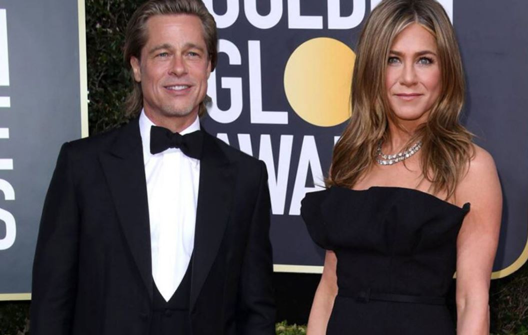 Jennifer Aniston is wearing Brad Pitt's $500k engagement ring