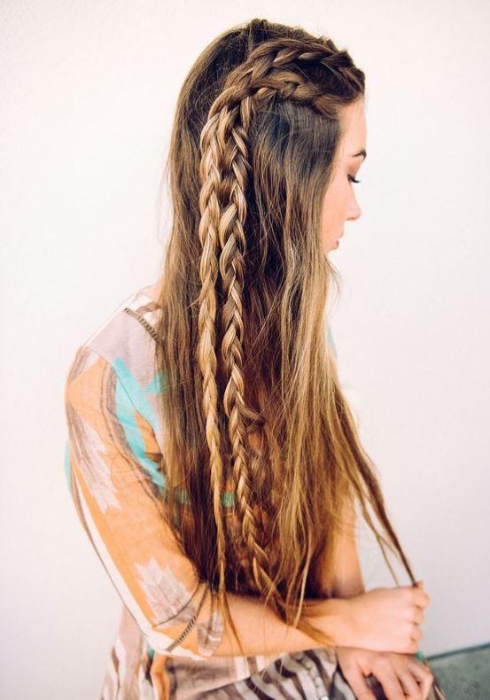 Long Braided Cowgirl Hairdo