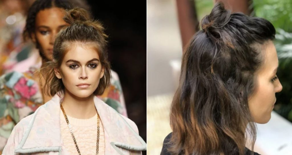 Curly Topknot Hairstyle