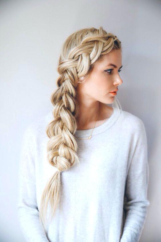 One side braid hairstyles