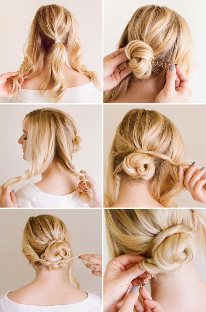 Romantic knot hairstyle