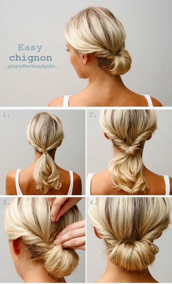 The Easy Chignon Hairstyle