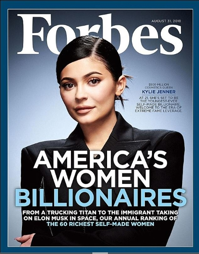 Not happy: The latest news comes after Kylie's wealth was estimated at around $900-950million as Forbes stripped her of her 'self-made billionaire' title last month - she sold 51% of her beauty brand to Coty for $600million in 2019