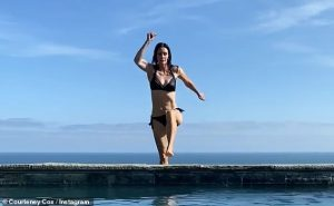 Courteney Cox looks incredible at 56 in small black bikinis
