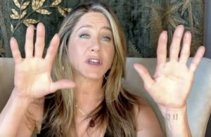 Jennifer Aniston gives rare glance of mystical tattoo during Lisa Kudrow chat