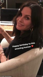 Jennifer Aniston sends an emotional message to Courteney Cox for her birthday
