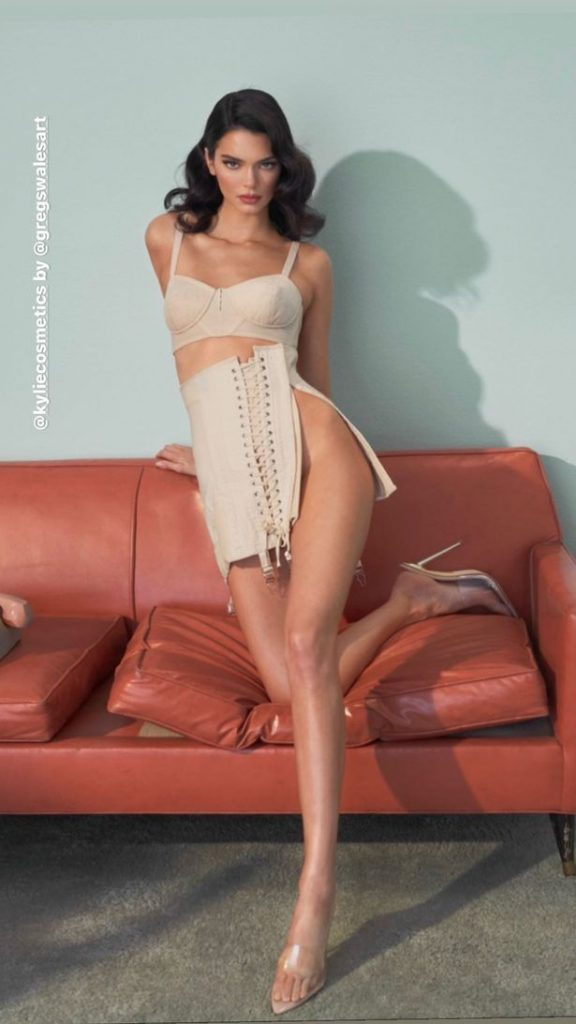 Kendall Jenner's pin-up change as she drops underwear in 50s-inspired shoot