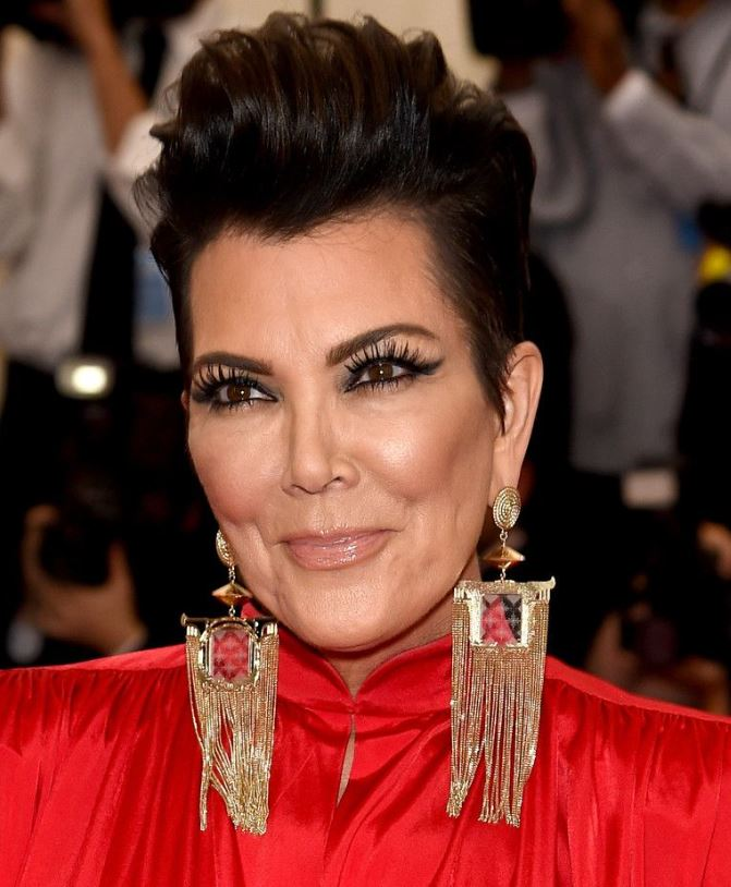 Kris Jenner Pompadour Hairstyle