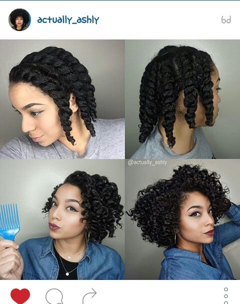 Natural Hair Twist-Out
