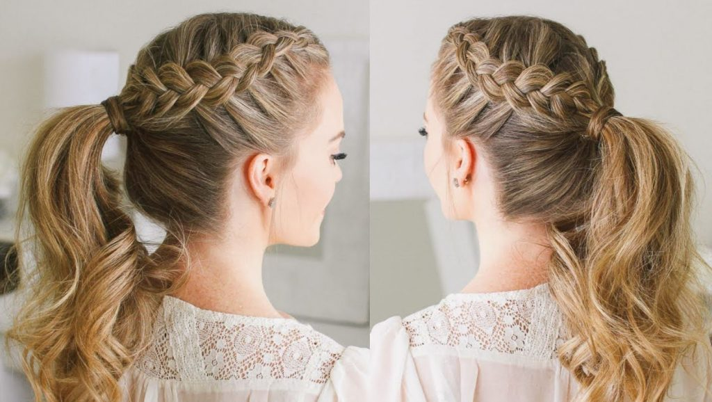 Ponytail Crown Braid