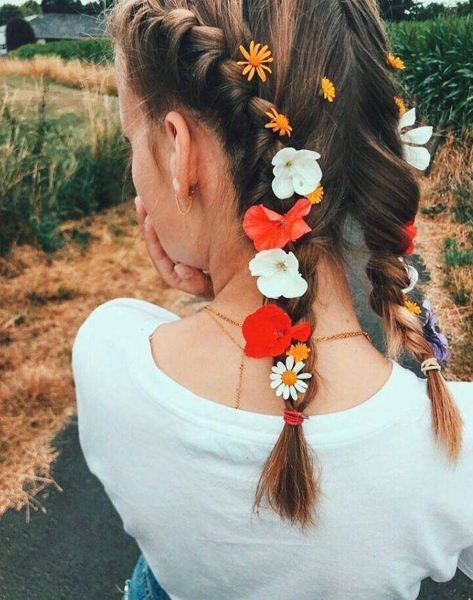 Rave Flower Braids