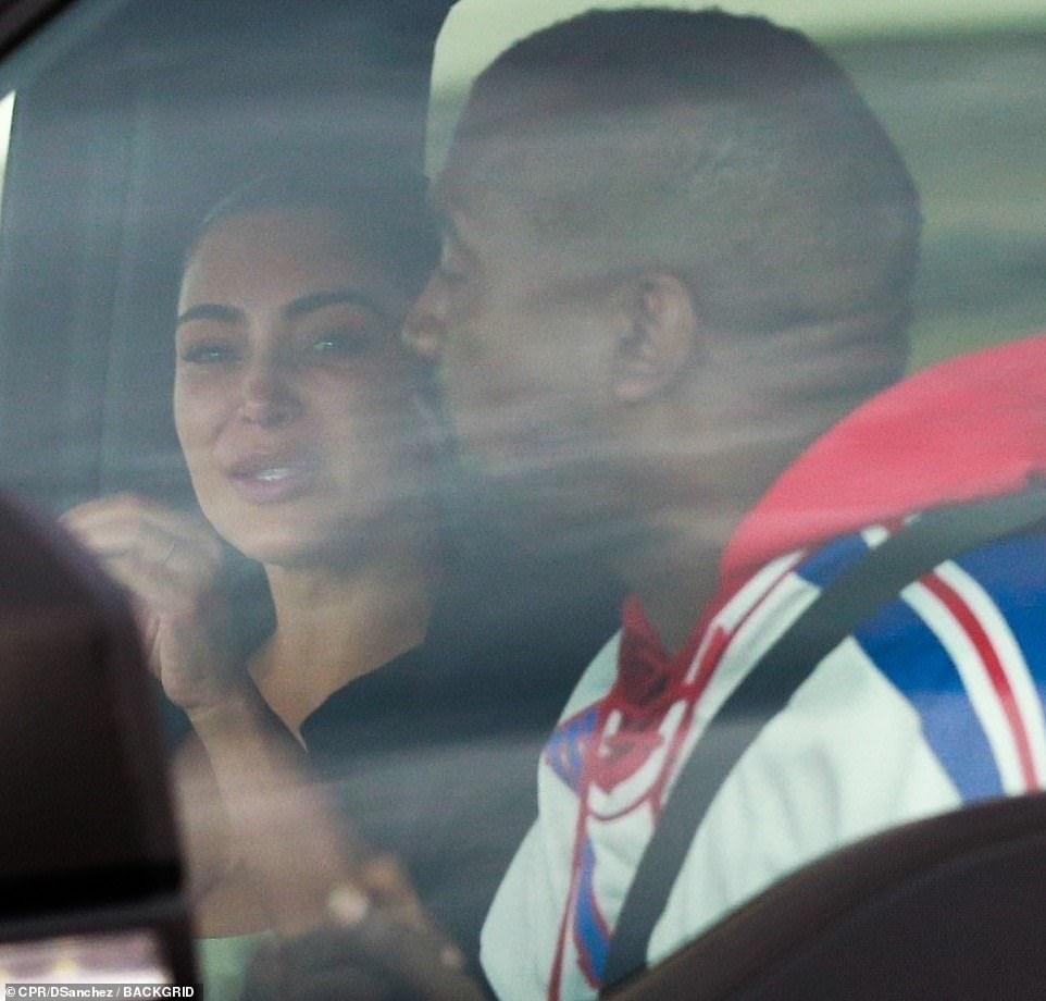 Kim Kardashian breaks down in tears as she meets with Kanye West in Wyoming for marriage crisis