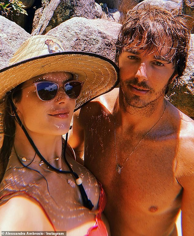 Happy couple: The brunette beauty has been dating Italian fashion CEO Nicolo Oddi, 40, since July of 2018
