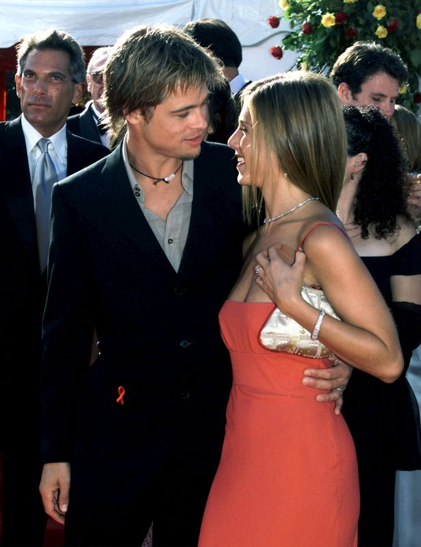 Brad Pitt and Jennifer Aniston couldn't get enough of each other