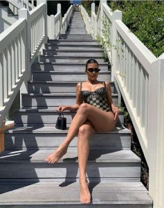Kourtney Kardashian Rocks in Fendi Swimsuit At $125 Million Malibu Home