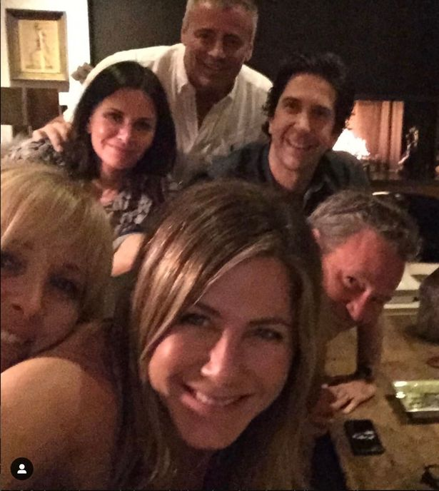 The Friends cast enjoyed a rare reunion last year