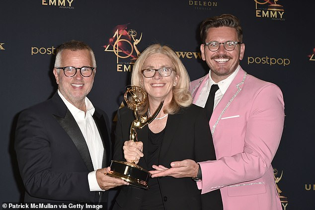 Claims: The show's executive producers Ed Glavin (left), Mary Connelly (center) and Andy Lassner (right) have been accused of fostering a hostile work environment