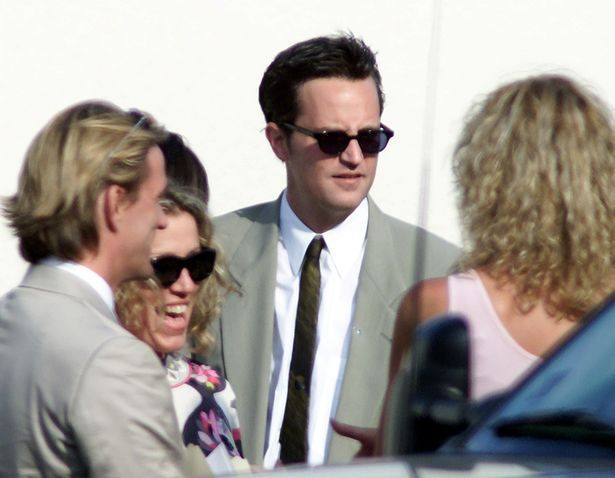 Their Friends co-star Matthew Perry was also on the guest list