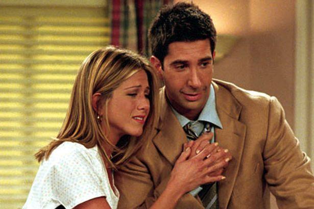 Ross Geller and Rachel Green in Friends