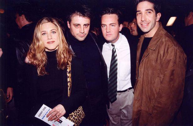 Jen pictured with co-stars Matt LeBlanc, Matthew Perry and David Schwimmer