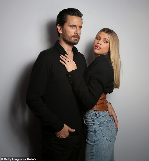 Splitsville: Scott and model Sofia Richie, 22, ended their three-year relationship in May, following his brief stint at a Colorado rehab facility; Scott and Sofia pictured in February