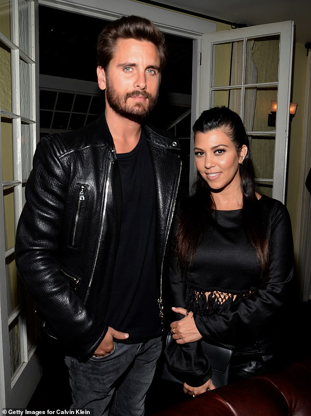 No way:Despite spending so much time together over the past few months, sources close to Scott and Kourtney recently told TMZ that 'they're not a couple'; Scott and Kourtney pictured in 2015