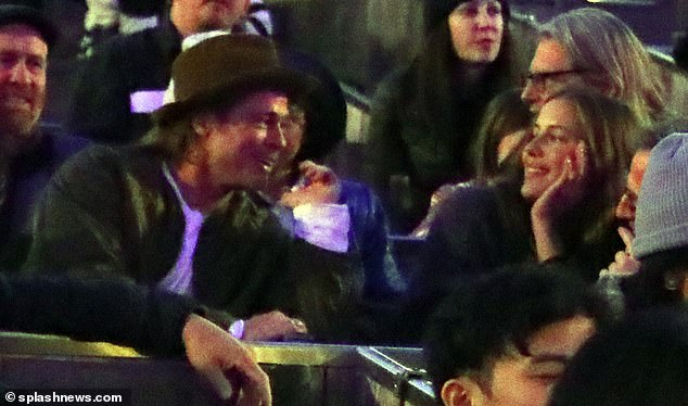VIP date: It's believed Pitt and Poturalski may have been dating for the best part of a year, as they both attended a performance of Kanye West's opera Nebuchadnezzar at the Hollywood Bowl in November 2019, pictured