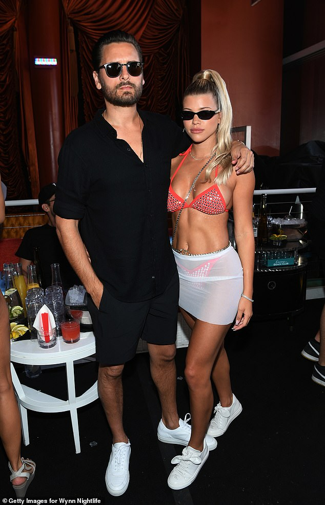 On¿off: Sofia and Scott split after his short-lived rehab stint, but they seemed to reunite for the Fourth of July, before splitting again; shown in August 2019